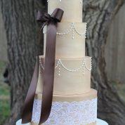 Rustic lace Wedding Cakes Missouri