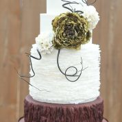 Rustic Ruffles Wedding Cakes Missouri