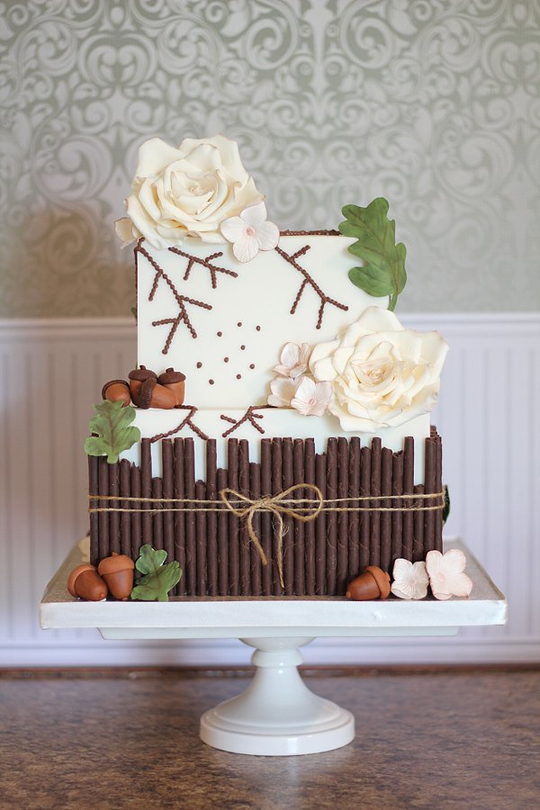 Rustic Acorns Wedding Cakes Missouri
