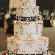 Gold Black Decor Beautiful Wedding Cakes Missouri