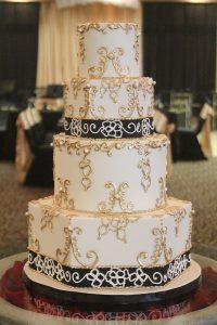 Gold Black Decor Beautiful Wedding Cakes Missouri