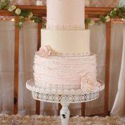 Pink Elegant Ruffles Wedding Cakes Missouri