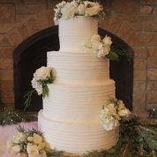 Buttercream Lines Wedding Cakes Missouri