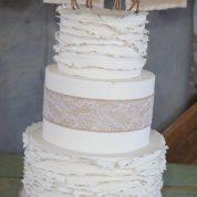 Ruffles Rustic Deer Wedding Cakes Missouri