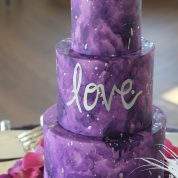 Purple Tie Dye LOVE Wedding Cakes Missouri
