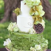 Ruffles Green Tree Rustic Wedding Cakes Missouri