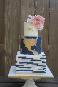 Plane World Blue Travel Wedding Cakes Missouri