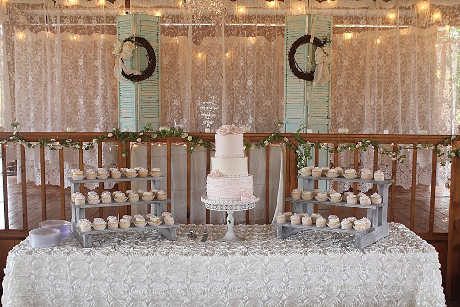 Pink Ruffle Simple Cupcakes Wedding Cakes Missouri