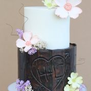 Tree Rustic Flowers Wedding Cakes Missouri