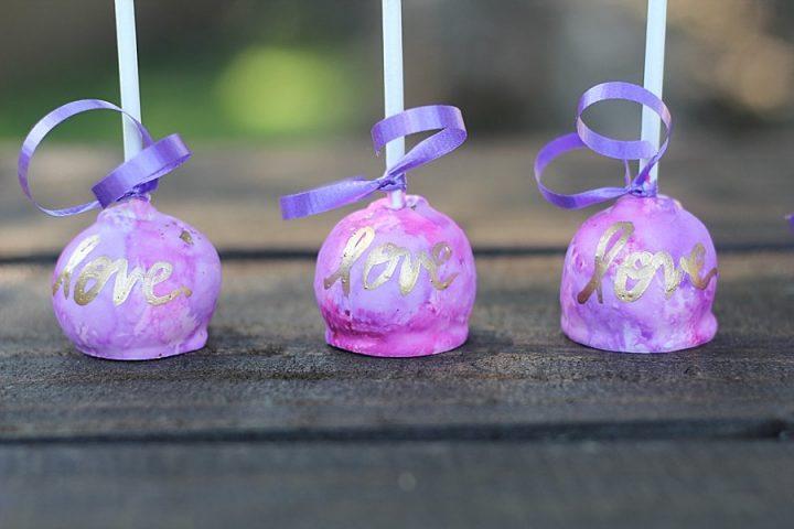 Love Purple Tie dye Cake Pops Springfield MO