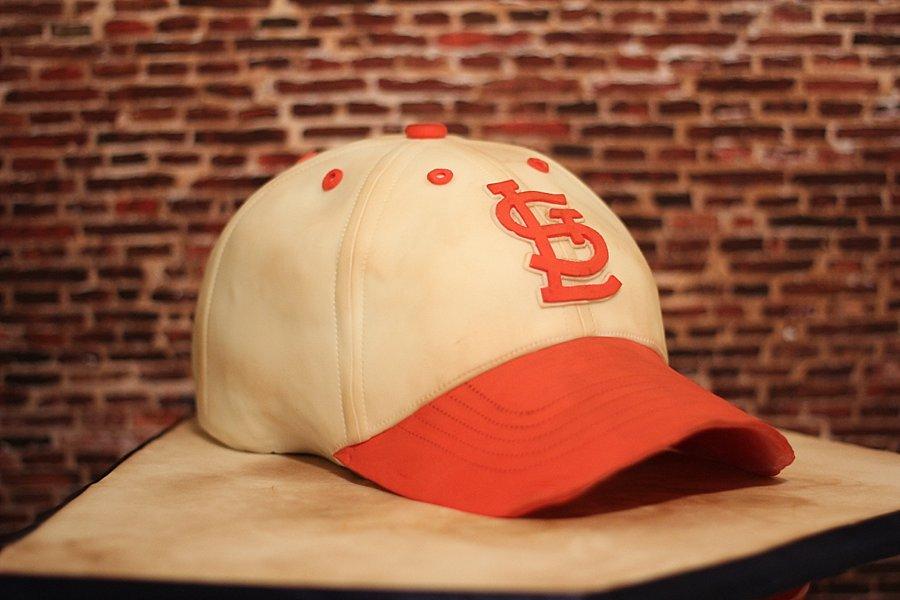 Cardinals Baseball Hat Groom's Cakes Springfield MO