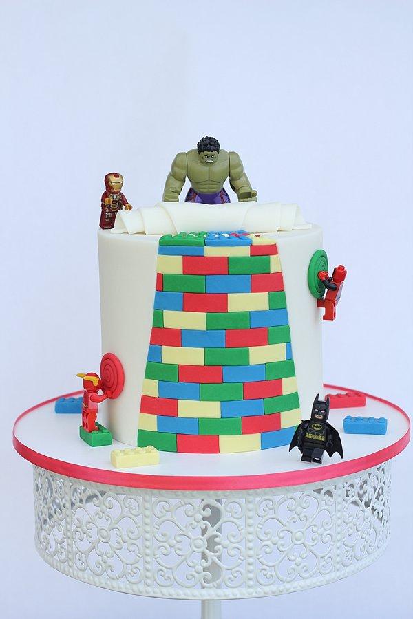 Legos Super Heros Groom's Cakes Springfield MO