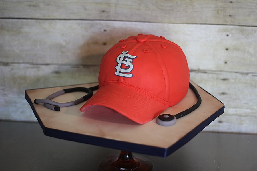 St Louis Cardinals stethoscope Groom's Cakes Springfield MO