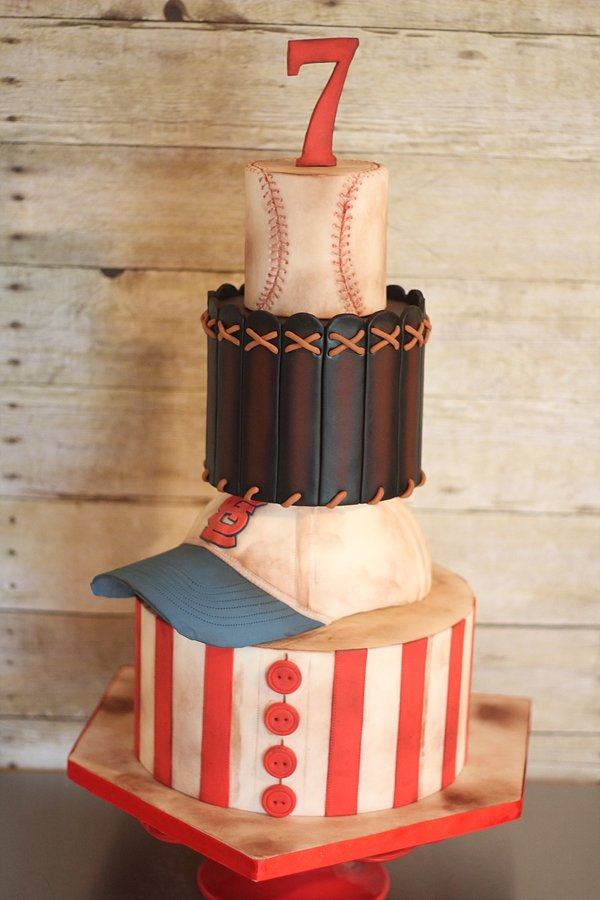Sports Hat Baseball Glove Ball Groom's Cakes Springfield MO