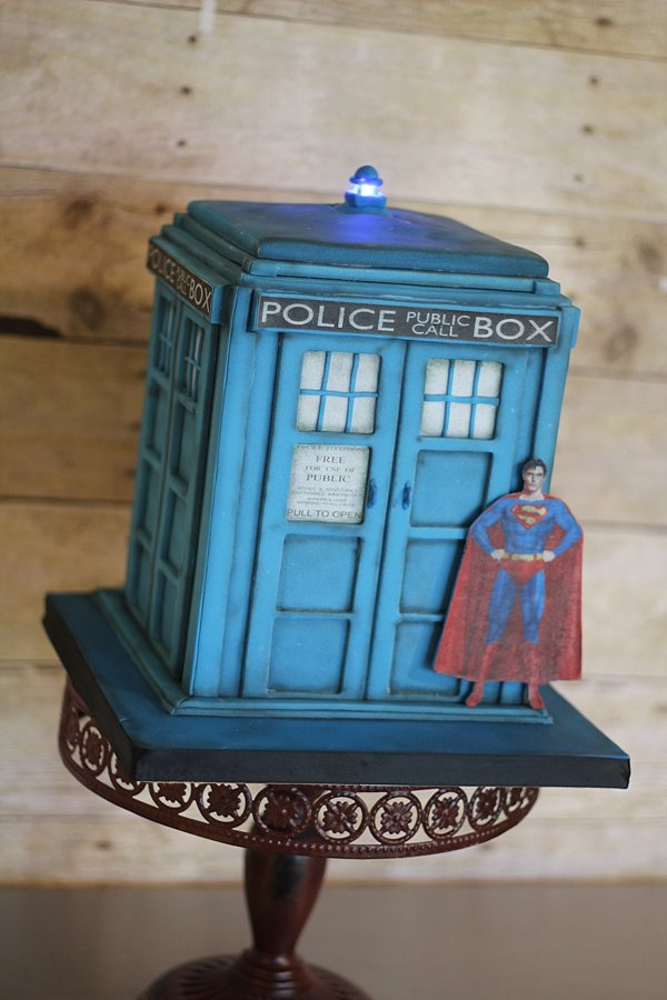 Superman Groom's Cakes Springfield MO