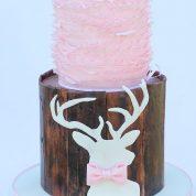 Baby Sleeping Rustic Deer Ruffles Baby Shower Cakes Springfield