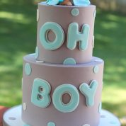 Boy Polka Dots Baby Shower Cakes Springfield
