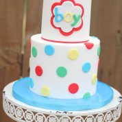 Polka Dot Baby Shower Cakes Springfield