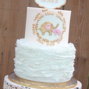 Elephants Ruffles Baby Shower Cakes Springfield