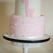 Pink Giraffe Ruffles Baby Shower Cakes Springfield