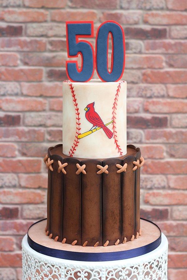 Cardinals Glove Birthday Cakes Missouri