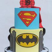 Superman Batman spiderman Birthday Cakes Missouri