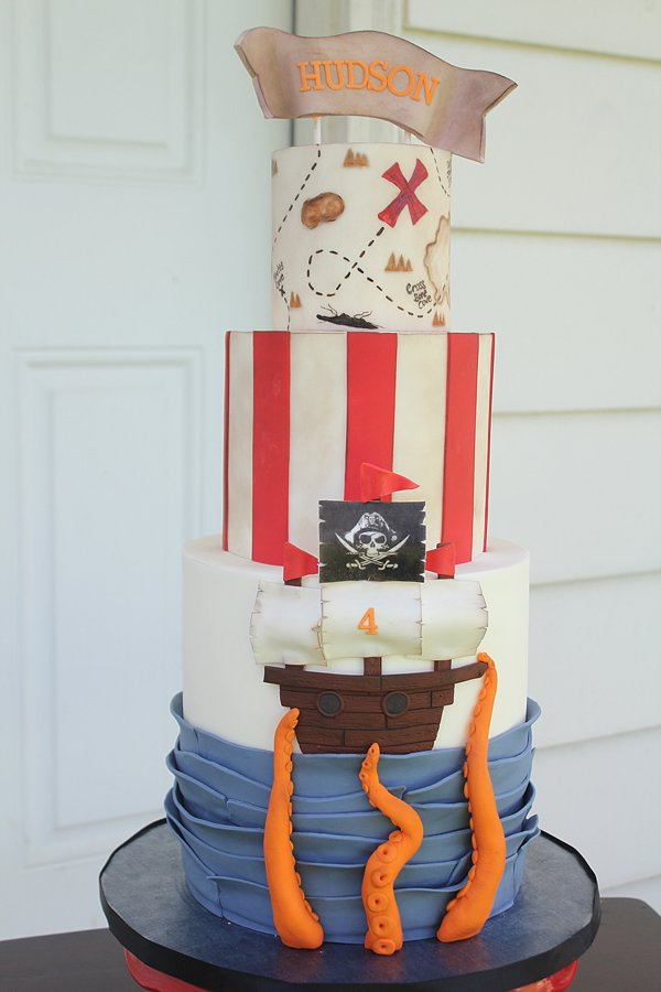 Pirate Ship Map Birthday Cakes Missouri