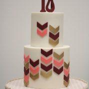 Chevron 18 Birthday Cakes Missouri