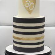 Gold Black 30 Birthday Cakes Missouri