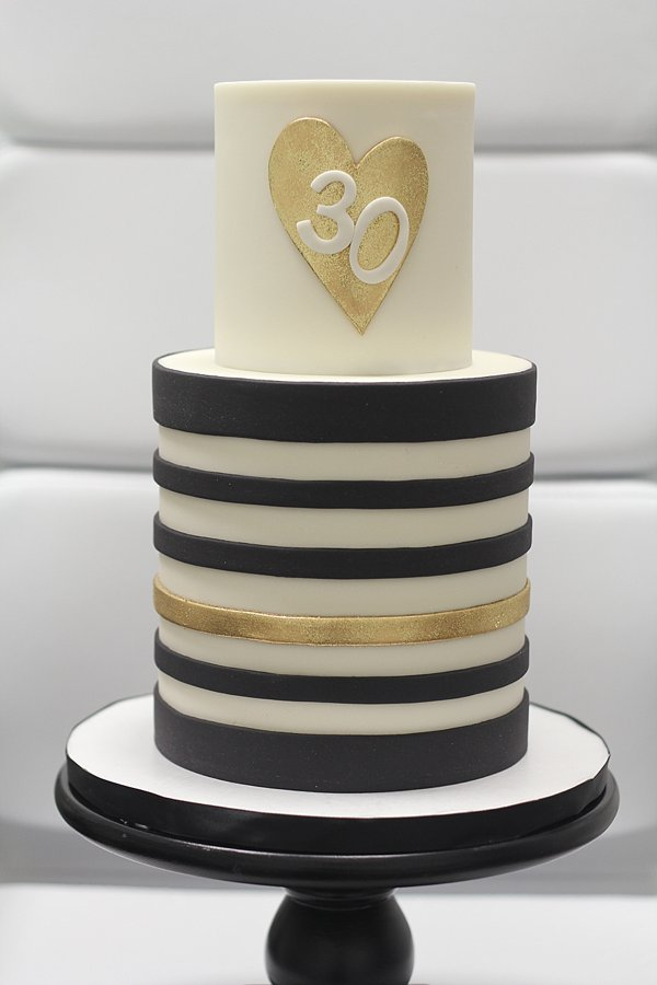 Gold Black 30 Birthday Cakes Missouri