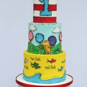 Cat in the Hat Fish Birthday Cakes Missouri