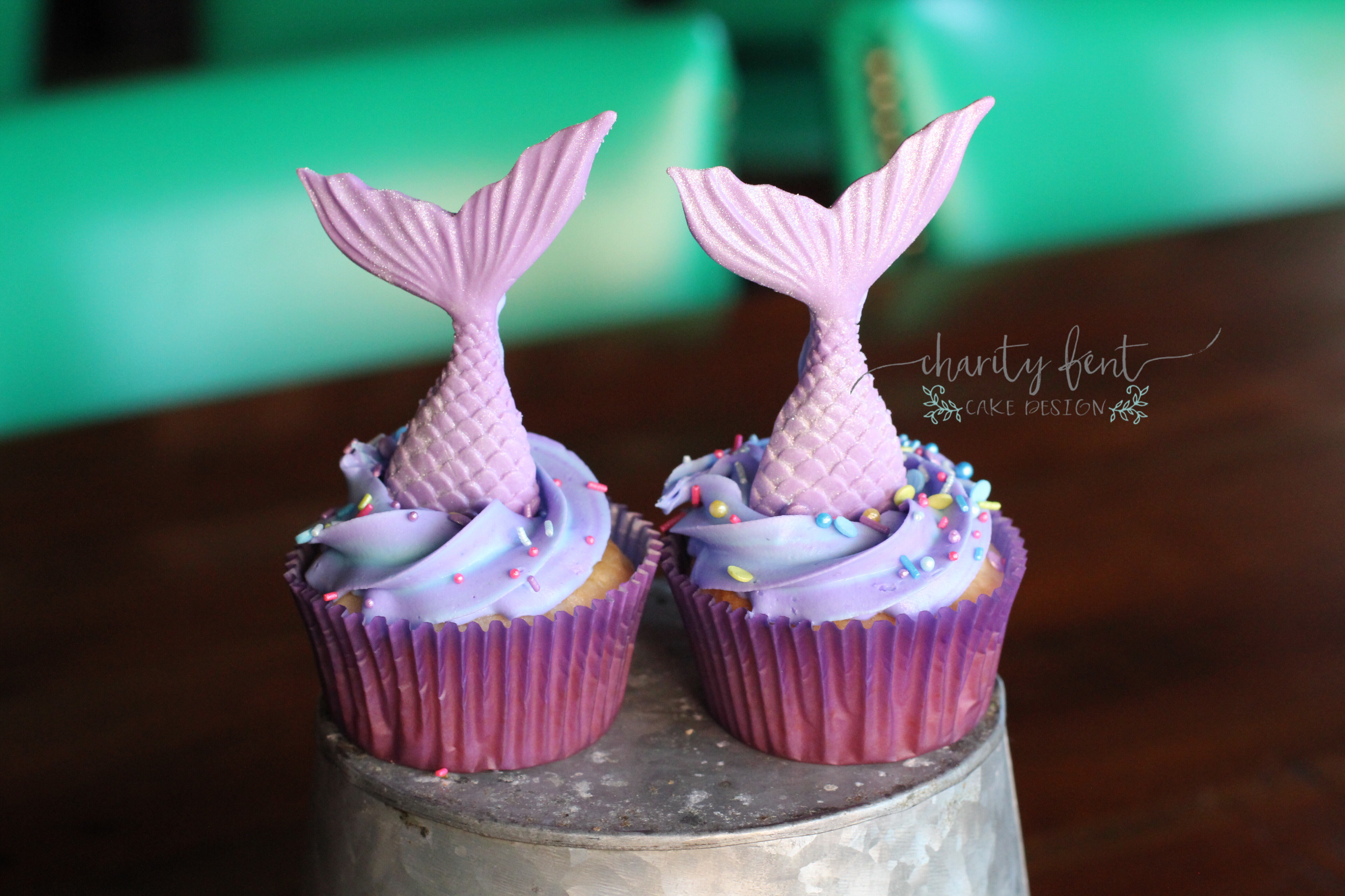Mermaid Cupcakes 187 Charity Fent Cake Design