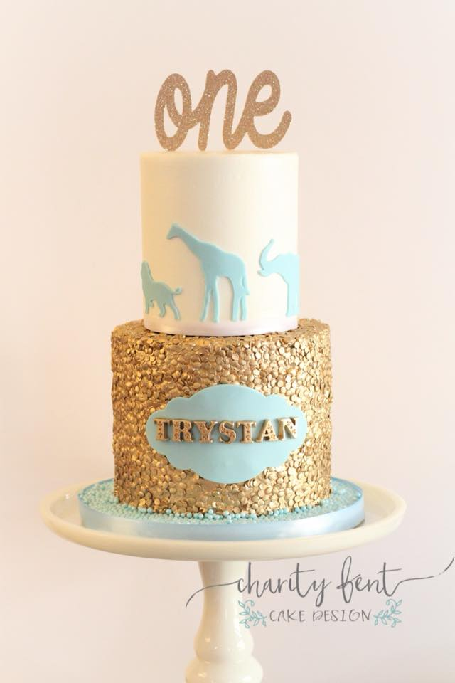 light blue and gold wedding cakes baby blue gold safari theme 187 charity fent cake design 16847
