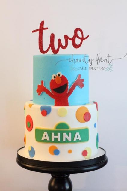 Elmo Themed With Custom Cake Topper