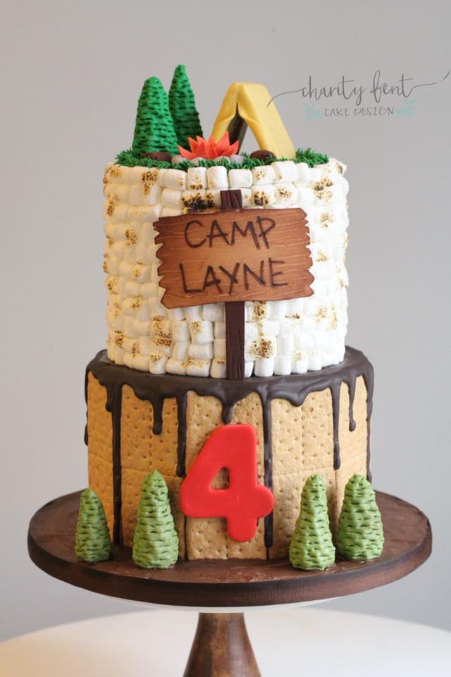 Camping Themed Birthday Cake Charity Fent Cake Design