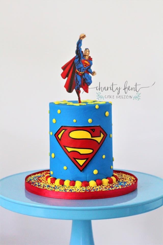 Superman Cake Charity Fent Cake Design