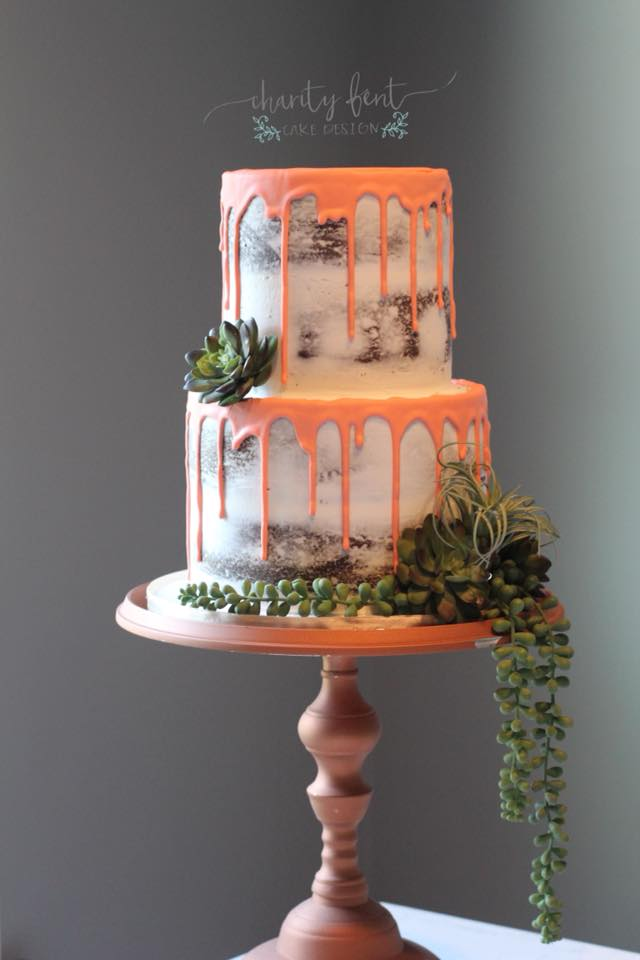 Naked Cake with Drip Icing