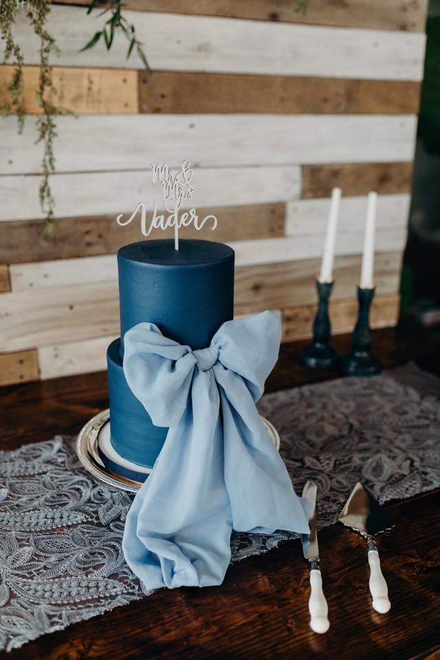 Wood hues and blue tones