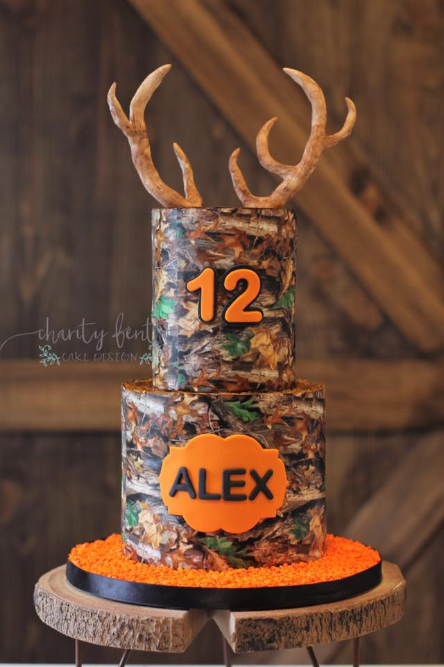 Fantastic Camo Birthday Cake Charity Fent Cake Design Custom Birthday Cakes Funny Birthday Cards Online Overcheapnameinfo