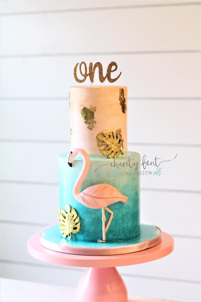 Surprising Flamingo Birthday Cake Charity Fent Cake Design Springfield Mo Personalised Birthday Cards Veneteletsinfo