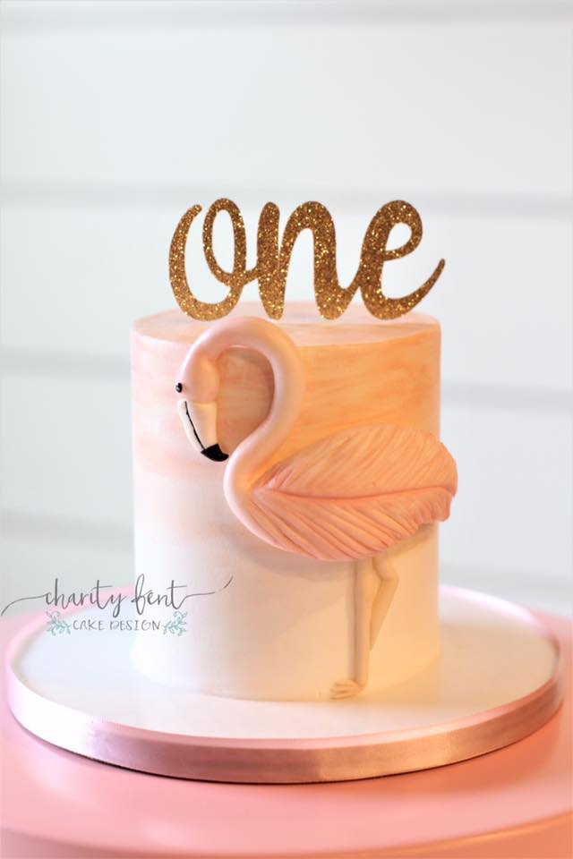 Flamingo Smash Cake