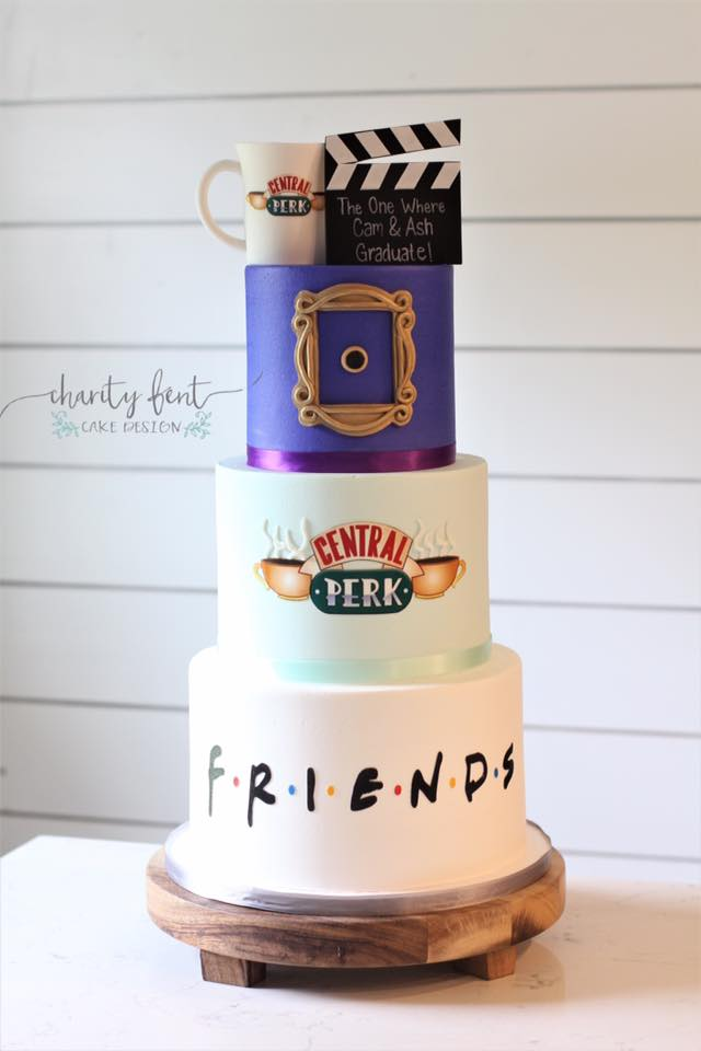 FRIENDS Graduation Cake