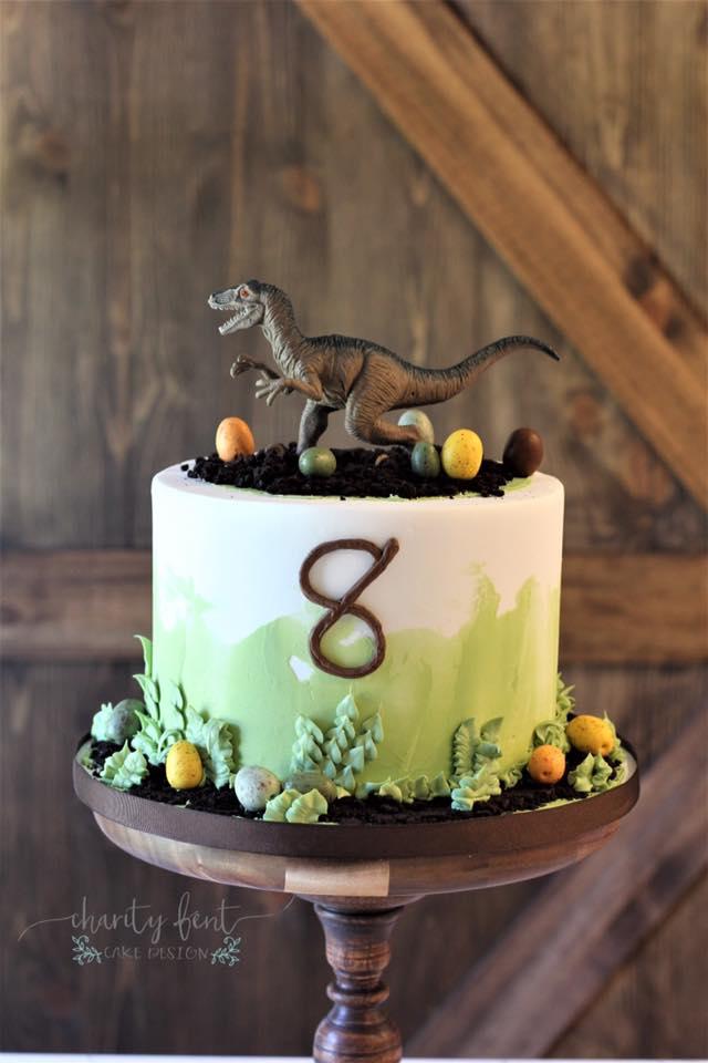 Pleasant Dinosaur Birthday Cake Charity Fent Cake Design Personalised Birthday Cards Bromeletsinfo